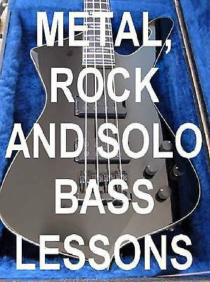 Metal, Rock And Soloing Bass Guitar Lessons DVD Video Licks With Attitude & Grit