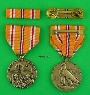 WWII Asiatic - Pacific Campaign Medal - Full size made in the USA - USM077 Asia