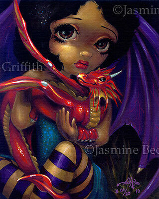 Darling Dragonling I dragon fairy fae art Jasmine Becket-Griffith CANVAS PRINT