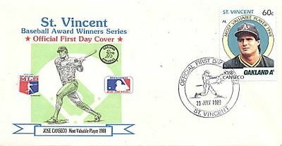St. Vincent 1989 Baseball Jose Canseco M.v.p Fdc