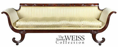 SWC-Carved Mahogany Classical Sofa, Phyfe type, c.1810