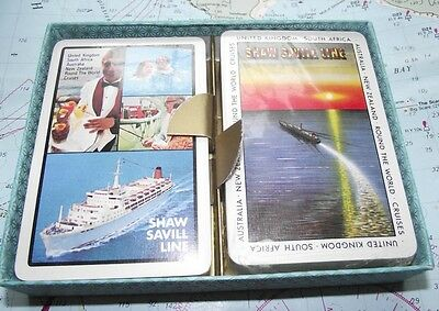 Twin Box c1970 Saville Shaw Shipping Line Playing Cards