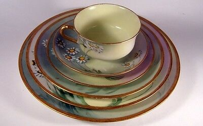 Haviland Limoges Hand Painted Daisy 6Pc Place Setting