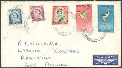 BRITISH NEW ZEALAND TO ARGENTINA Air Mail Cover VF