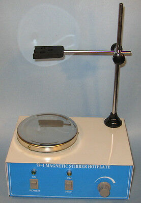 Electric hotplate hot plate magnetic stirrer with mixer bar lab New