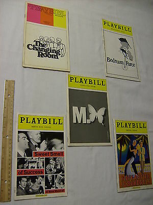 JOHN LITHGOW 5 BROADWAY NYC THEATRE PROGRAMS 1973-2005 4 Ticket Stubs Bway Debut