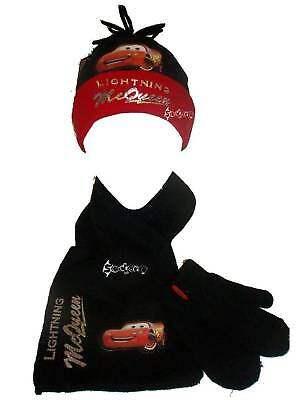 Disney Cars Lightning Mcqueen Knitted Hat Glove & Scarf