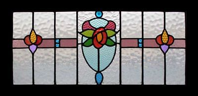 Mackintosh Rose Floral Art Nouveau English Antique Stained Glass Window