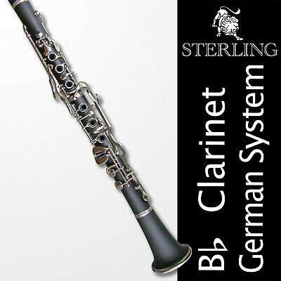 Sterling Bb GERMAN-SYSTEM Clarinet • Oehler System • Gold Keys •  Pro Quality •