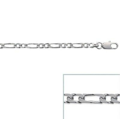 Chaine HOMME Argent FIGARO 1-2 60 cm Largeur 3 mm NEUF