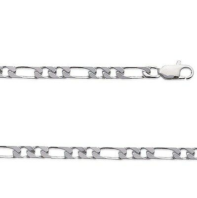 Chaine HOMME Argent FIGARO 1-2 50 cm Largeur 5 mm NEUF