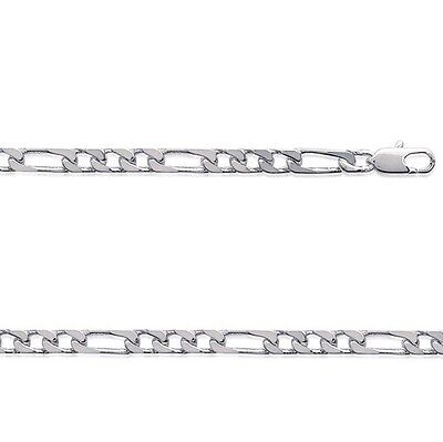 Chaine HOMME Argent FIGARO 1-3  50 cm Largeur 5 mm NEUF