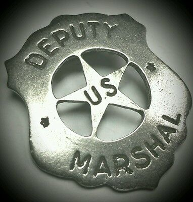 DEPUTY US MARSHAL SHIELD OLD WEST LAWMAN POLICE BADGE Made in USA! Obsolete 03