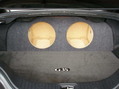 "ZEnclosures Subwoofer Box for the Infiniti G35 Coupe 2-10"" Sub Speaker Box New!"
