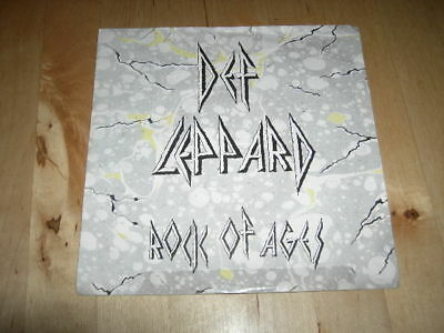 "Def Leppard ""rock Of Ages"" 7"" Picture Sleeve"