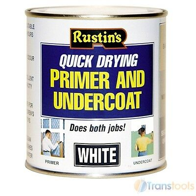 Rustins Quick Drying Wood Primer and Undercoat White - 500ml