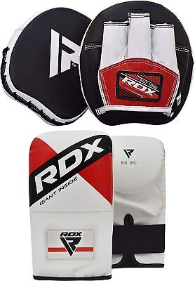 RDX Smartie Focus Pads,Curve Hook and Jab Mitts,MMA Boxing Kick With Bag Gloves