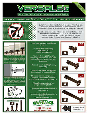 """5"""" Universal Bed Legs -Replace Your Metal Frame!"""