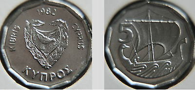 Cyprus 1982 5 Mils Uncirculated (KM50.2)