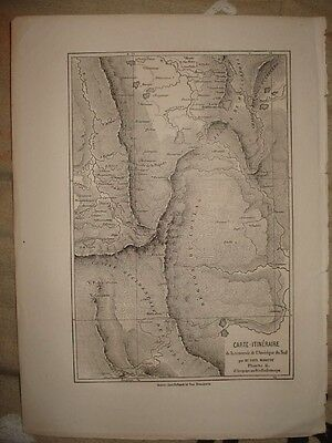 1840 ANTIQUE MAP SOUTH AMERICA EXPLORATION Rare Nice NR