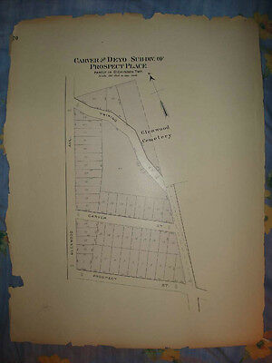 Dickinson Broome County New York Antique Handclr Map Nr