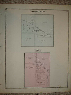 Orleans Township Ionia County Michigan Antique Map Nr 20 00
