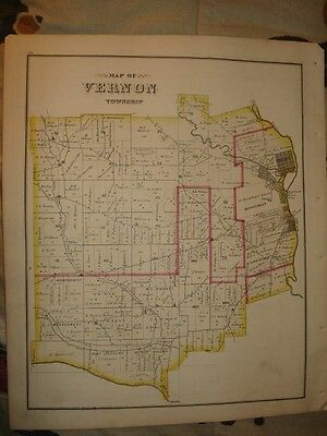 Vernon Township Meadville Pennsylvania Antique Map Nr
