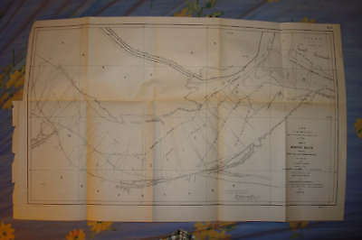 Antique Memphis Tennessee Mississippi River Larg Map Nr