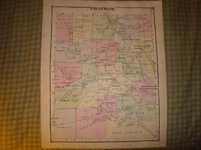 Chatham Township Shortsville Pennsylvania Antique Map N
