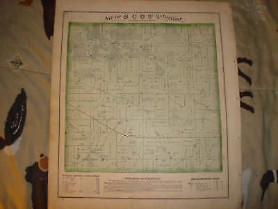 1870 Scott Township Johnson County Iowa Antique Map Nr