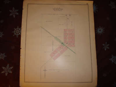 Tyre Sanilac County Michigan Antique Handcolored Map Nr