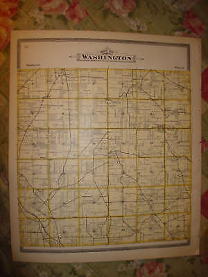 WASHINGTON TOWNSHIP RICHLAND COUNTY OHIO ANTIQUE MAP NR