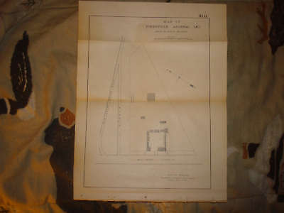 1875 Antique Pikesville Arsenal Maryland Map Superb Nr