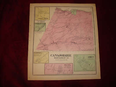 Canajoharie Ames Buel Marshville New York Antique Map