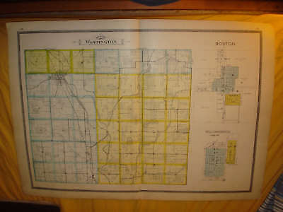 WASHINGTON TOWNSHIP MILTON WAYNE COUNTY INDIANA MAP NR