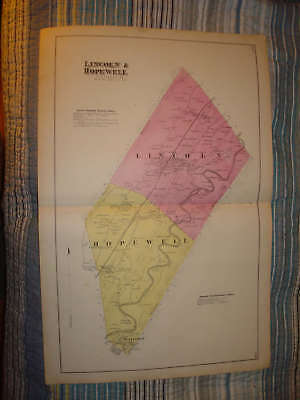1873 Lincoln Hopewell Township Pennsylvania Antique Map