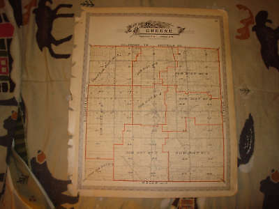 Greene Township Trumbull County Ohio Antique Map Nr