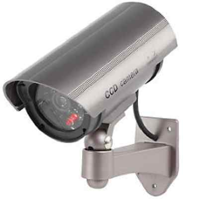 Camera De Surveillance Factice Et Etanche A Led Rouge