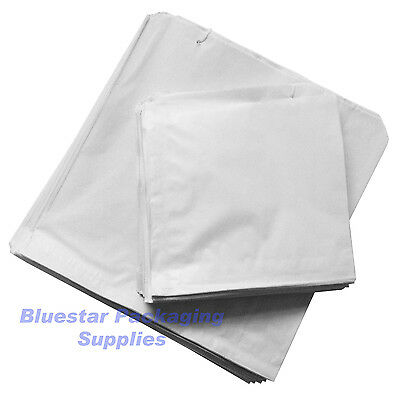 """100 x White Sulphite Paper Food Bags Strung 10"""" x 10"""" for Sandwiches Groceries"""