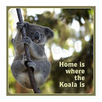 Home is Where the Koala Is New Fridge Magnet Large Size