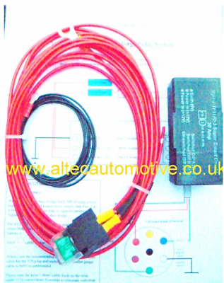 Caravan/trailer Split charge & fridge relay kit   (VOLTAGE SENSING TF1170-3)