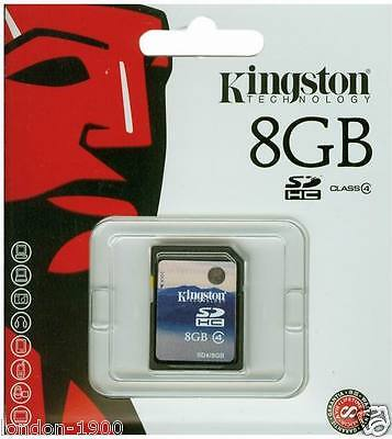 Kingston 8GB MEMORY CARD SDHC FOR CAMERAS and Camcorder