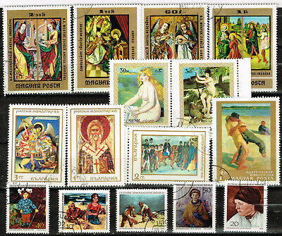 Art Paintings East Europe stamps collection