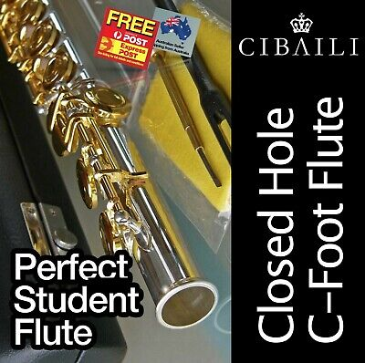 Silver Student C FLUTE • CHC 16 keys • BRAND NEW SUPERB • Silver-Plated WAGNER •