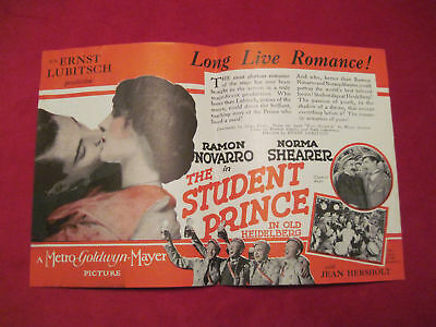 NORMA SHEARER STUDENT PRINCE Movie Herald Pamphlet 1927