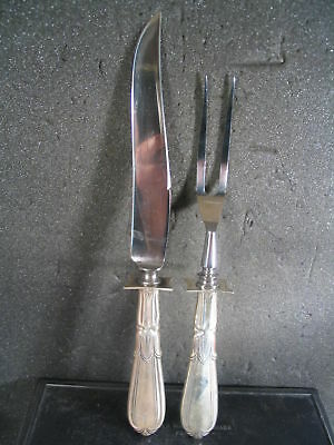 Sterling Schofield CARVING KNIFE & FORK SET Unk Pattern