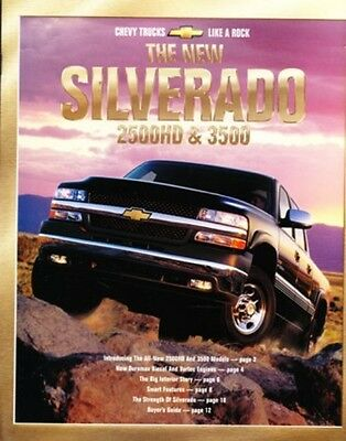 2001 01 Chevrolet Silverado 2500HD & 3500 brochure