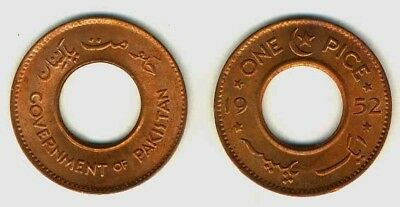 Pakistan 1952 1 Pice 5 Uncirculated Coin Lot (KM1)