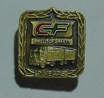 *CF* Consolidated Freight Enamel 9 Year Safety Pin