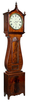 SWC-Mahogany Block and Shell Tall Case Clock, 1810